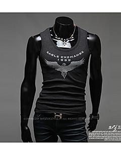 Men's Casual/Work/Formal Print/Pure Sleeveless Regular Shirt (Acrylic/Lycra/Polyester)