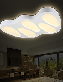 Flush Mount LED No Polar Light with Remote Control Modern/Contemporary Living Room/Bedroom/Dining Room/Study Room PVC