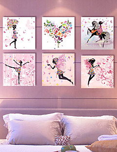 Set of 6 Stretched Canvas Print  Art Flower Fairy