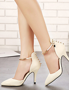 Temperament Rivet Metal Buckle Cusp Shallow Women's Wedding Stiletto Heel Platform Pumps/Heels Shoes