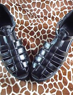 handgemachten schwarzen 7cm hohen Ferse klassische Lolita Schuhe
