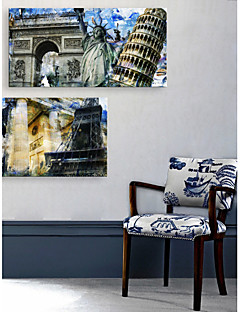 e-home® allungata tela arte famosa serie architettura pittura decorativa europea di 2