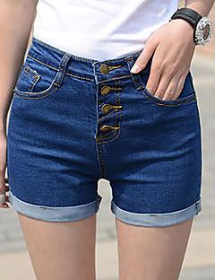 Naisten Bodycon korkea vyötärö shortsit farkut