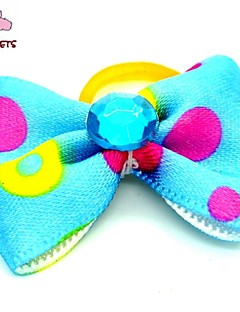 FUN OF PETS® Cute  Ribbon Style  Rhinestone Decorated Rubber Band Hair Bow for Pet Dogs  (Random Color)
