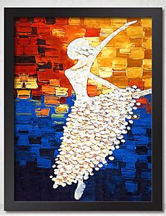 pintura al óleo cisne danza marco de marco de madera con la lona con vidrio orgánico plástico color al azar 1piece / set