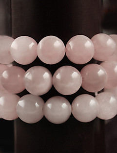 beadia 39cm / STR (약 98pcs)는 천연 장미 석영 구슬 라운드 핑크 돌 구슬 DIY 액세서리를 4mm