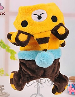 Cat / Dog Costume / Coat / Hoodie / Pants / Outfits Blue / Yellow / Rose Dog Clothes Winter Animal / Cartoon Wedding / Cosplay / Halloween