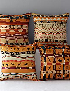 ensemble de motifs en coton / lin 4 Africa Style taies d'oreiller décoratif