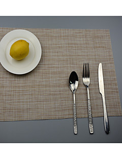 """2pcs style européen napperons de table pvc manger des verres de haute qualité (12 """"x18"""")"""