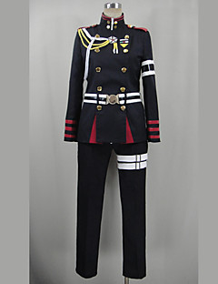 Inspired by Seraph of the End Guren Ichinose Video Game Cosplay Costumes Cosplay Suits Patchwork Black Long SleeveTop / Pants / Belt /