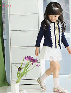 Girl's Winter/Spring/Fall Micro-elastic Medium Long Sleeve Sweater & Cardigan (Cotton/Polyester)
