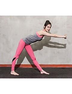 ternos sem mangas das mulheres yoga outros respirável / secagem rápida / wearable / wicking / compressão cinza / fitness s / m / l