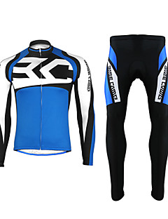 Cycling Jersey with Tights Women's / Unisex Long Sleeve BikeBreathable / Thermal / Warm / Quick Dry / Front Zipper / High Breathability