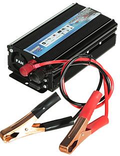 hot-a1-00022 1000w bil bilen usb DC 12V til AC 110V strøm inverter adapter converter - svart