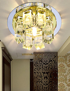 3W Flush Mount Crystal/LED Modern/Contemporary Bedroom/Hallway Metal
