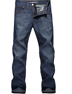 Men's Large Size Pure Color  Casual Jeans
