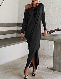 Women's Sexy Vintage Long Sleeve Split Dress