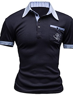 Men's Short Sleeve Polo,Others Casual / Work Solid