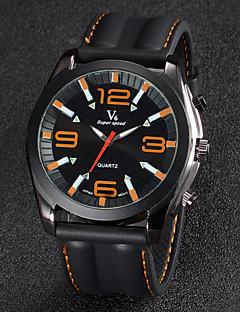 Herren Armbanduhr Quartz Japanischer Quartz Silikon Band Schwarz Marke V6