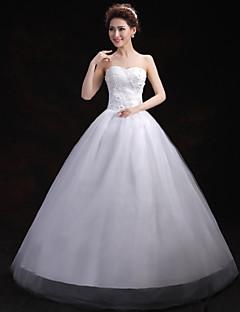 웨딩 드레스 - 화이트 볼 가운 바닥 길이 스윗하트 튤