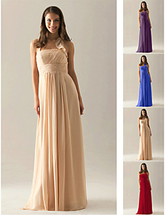 Bridesmaid Dress Floor Length Chiffon Empire Halter Dress