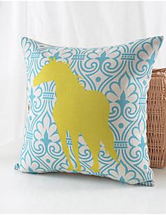 pays coton motif de cheval / lin taie d'oreiller décoratif