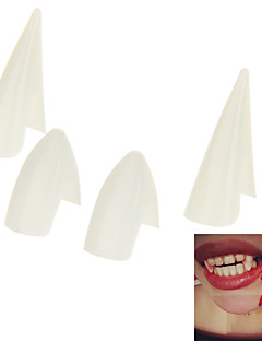 Scary Horror Demon Zombies Vampire Halloween Teeth - White
