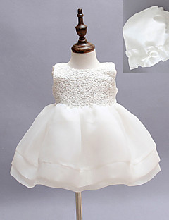Two Pieces A-line Knee-length Baby Flower Girl Dress - Cotton/Tulle/Polyester Sleeveless