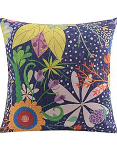 coloré motif de nature coton / lin taie d'oreiller décoratif