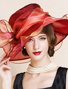 נשים וינטאג'/מסיבה כל העונות מש כובע עם שוליים רחבים