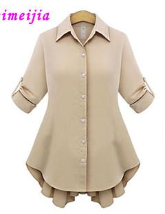 Overhemdkraag - Overige - Ruche - Vrouwen - Blouse - Lange mouw