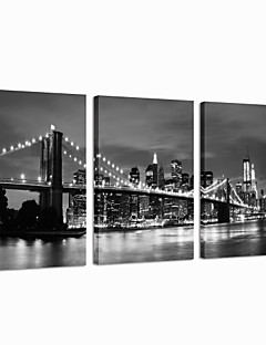 star®black visuelle et blanc London Bridge Toiles Tendues célèbre mur d'art moderne prêt à accrocher