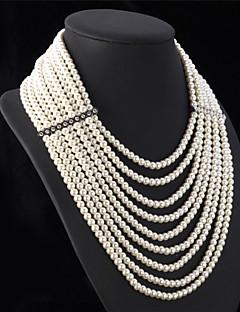 Damen Statement Ketten Perlenkette Perle Schmuck Perle Elegant Luxus-Schmuck Mehrlagig Schmuck Für Hochzeit Party