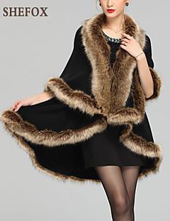 Women  Imitation Raccoon Fur Shawl & Wrap / Top , Belt Not Included SF9B16