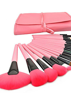 PINK Pro 24Pcs Pouch Bag Case Superior Soft Cosmetic Makeup Eye Brush Set Kit