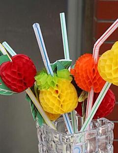 50pcs dekorativ Cocktail trinken Stroh Einweg-Parteistrohe Partybevorzugungen (gelegentliche Farbe)