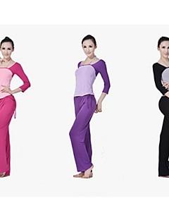 Annat Dam Yoga Kostymer Lång ärm Andningsfunktion / wicking / Lättviktsmaterial Röd / Svart / PurpurYoga / Pilates / Fitness / Leisure