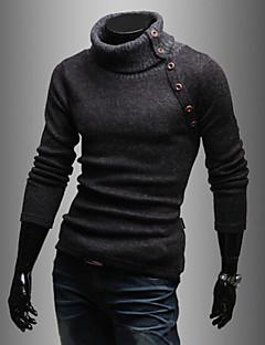 Langermet Pullover Normal Menn Fritid / Sport Bomullsblanding