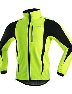 Arsuxeo® Chaqueta de Ciclismo Hombres Mangas largas BicicletaTranspirable / Mantiene abrigado / Resistente al Viento / Diseño Anatómico /