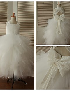 Princess Ankle-length Flower Girl Dress - Lace/Tulle Sleeveless