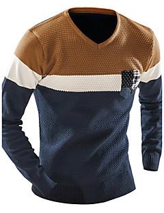 Langermet Pullover Normal Menn Fritid / Arbeid / Sport Bomull