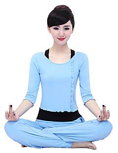 Annat Dam Yoga Kostymer Halv ärm Lättviktsmaterial Rosa / Svart / Blå / Bordeaux Yoga / Pilates / Fitness / Leisure Sports / LöpningM / L