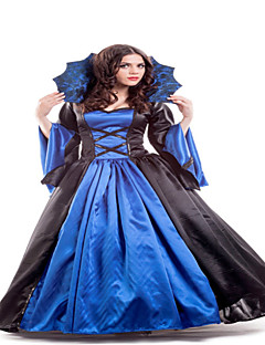 Classic  Marie Antoinette Inspired Dress Blue and Black Halloween Party Dress