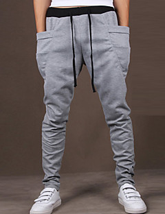 Yoonheel Men's Sweatpants,Casual / Sport Solid Cotton / Polyester
