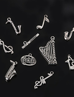 Beadia Metal Musical Instrument & Musical Notes Charm Pendants Antique Silver Plated DIY Jewelry Accessories