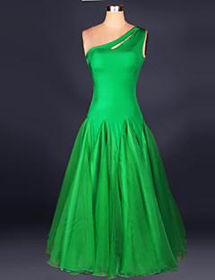 Ballroom Dance Dresses Women's Performance Chinlon Crepe Draped 1 Piece Sleeveless Dress 125