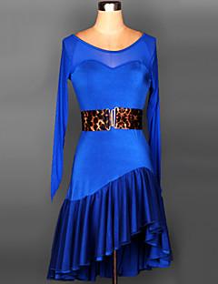 Latin Dance Dresses Women's Performance / Training Spandex Draped / Sash/Ribbon 2 Pieces 6 Colors