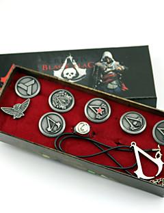 Smykker Inspireret af Assassin's Creed Connor Anime / Videospil Cosplay Tilbehør Halskæde / Emblem / Broche Sølv Legering Mand
