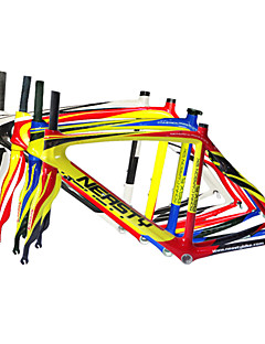 Neasty ®700C Full Carbon Fiber Road Bicycle Frame with Red White/White/Blue Yellow/Blue Yellow/Glossy Finish52/56CM