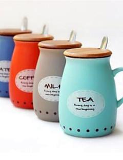 Magenmilchbecher große Tasse mit Deckel und Löffel Persönlichkeit Cup